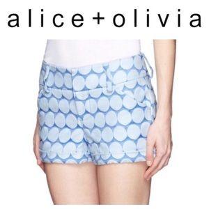💸Alice + Olivia blue polka dot dress shirt size 8